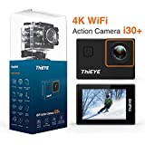 ThiEYE 4K Action Camera Wifi Waterproof Sport Video Camera 12MP Full HD 2 Screen with Multiple Modes, 170 Wide Angle, 197FT Waterproof, App Control and Full Accessories (i30+)