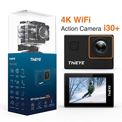 "ThiEYE 4K Action Camera Wifi Waterproof Sport Video Camera 12MP Full HD 2"" Screen with Multiple Modes, 170 Wide Angle, 197FT Waterproof, App Control and Full Accessories (i30+) ThiEYE"