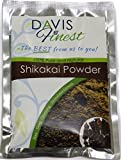 Davis Finest Shikakai Powder - Pure Natural Hair Growth SLS Chemical Free Soap Shampoo Deep Cleansing Thickening Shine Conditioner - Itchy Scalp Lice Treatment - Face Mask Body Wash (100g)