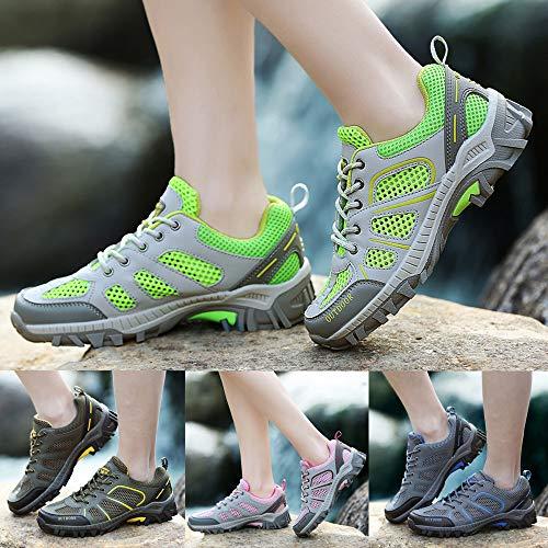 Mocasines Cordones Gimnasia Verde Sneakers Zapatos Ligero Running Cinnamou de Mujer de Tacón para para Transpirables Mujer qFS8xn4fTw