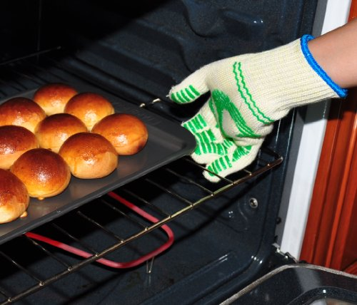 G & F 1684L Dupont Nomex  & Kevlar  Heat Resistant Gloves, Oven Gloves, BBQ Gloves, Large, 1 Pair by G & F Products (Image #2)