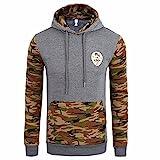 Clearance!!! Men's Hoodies, Men Camouflage Coat Jacket Sweater Turtleneck Swearshirt Long Sleeve Outwear (XL, Khaki)