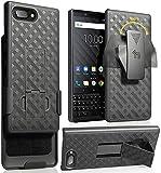 BlackBerry KEY2 Case Clip, Nakedcellphone Black Kickstand Cover [Rotating/Ratchet] Belt Hip Holster Combo BlackBerry KEY2 Phone, Key 2 (BBF100-1, BBF100-6)