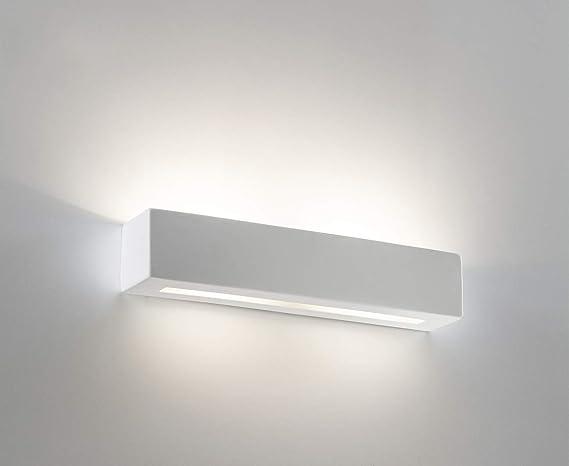 Applique lampada da parete moderno rettangolare cm effetto gesso