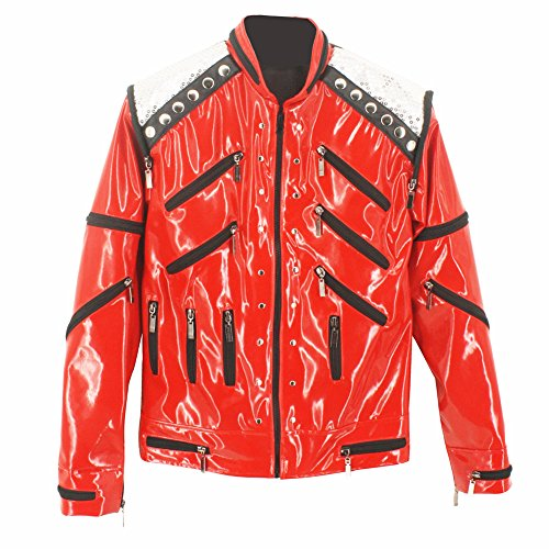 MJ Michael Jackson Classic Vocal Concert Beat It Jacket Collection Red (M)]()