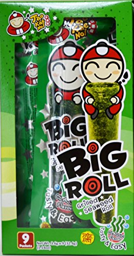 Tao Kae Noi Big Roll Grilled Seaweed Roll 9 Packets Per Box, (32.4 g) - 3 Boxes (Classic Flavour)