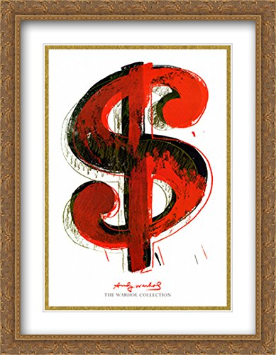Matted 28x40 Large Gold Ornate Framed Art Print by Andy Warhol ()