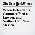 When Defendants Cannot Afford a Lawyer, and Neither Can New Mexico | Fernanda Santos