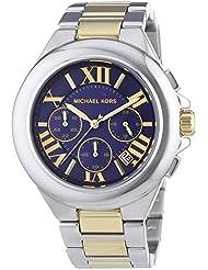 Michael Kors Womens Camille Two Tone Bracelet Blue Dial Watch MK5758