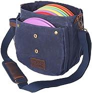 Disc Living Disc Golf Bag | Frisbee Golf Bag | Lightweight Fits Up to 10 Discs | Belt Loop | Adjustable Should