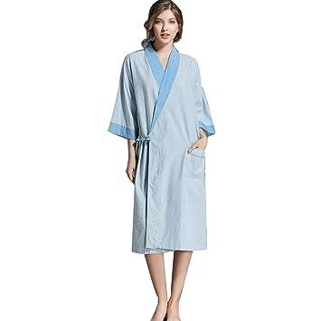 HUIFANG Pareja Albornoces Sueltos De Gran Tamaño De Algodón Bata Kimono Japonesa Pareja Albornoces Sauna Traje
