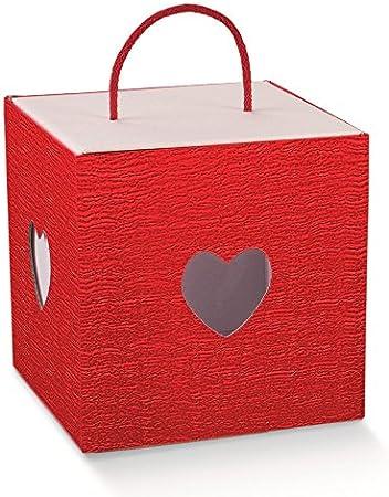 Caja c/cuerda Pizarra roja 210 x 210 x 210 mm: Amazon.es: Hogar