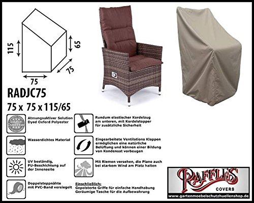 Ruota JC75Custodia per Sedia Relax, Sedia con schienale alto Raffles Covers