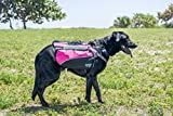 2PET Dog Saddlebags – Compact Dog Backpack for Dogs. Adjustable Harness, Comfortable Fit-Perfect Dog Carrier Backpack with 2 Zipper Pockets & Bottle Holder for Outdoor Activities – Large Pink