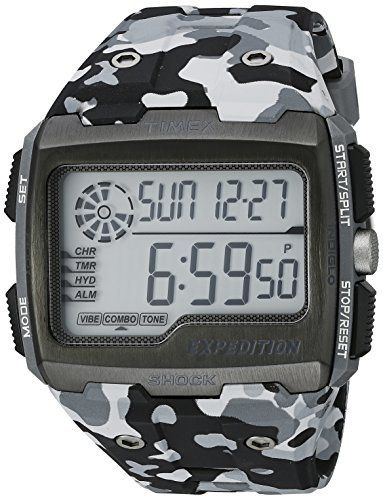 Camouflage Gray - Timex Men's TW4B030009J Expedition Grid Shock Gray Camo Resin Strap Watch