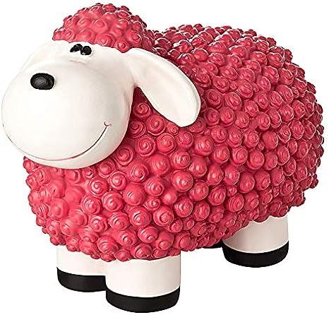 incubado Mini oveja Molly Figura decorativa para jardín, decoración para el jardín exterior, pequeño, rosa: Amazon.es: Hogar