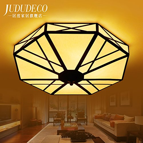 BLYC- Chinesische moderne Lampe warme Decke Lampe einfach Fashion Restaurants Restaurant Den Master-Schlafzimmer Wohnzimmer Lampe Lampe Licht 600mm Höhe 220mm
