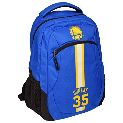 TBFC Golden State Warriors NBA Action Backpack School Book Gym Bag - Kevin Durant #35