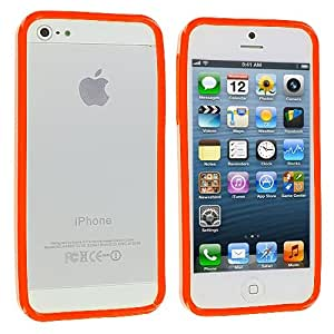 Orange Solid TPU Bumper Rubber Skin Case Cover for Apple iPhone 5 5G 5th