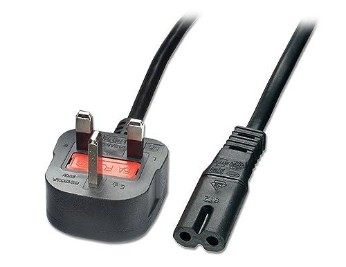 LINDY Mains Power Lead (Fig. 8) UK 3 Pin Plug Black 2m
