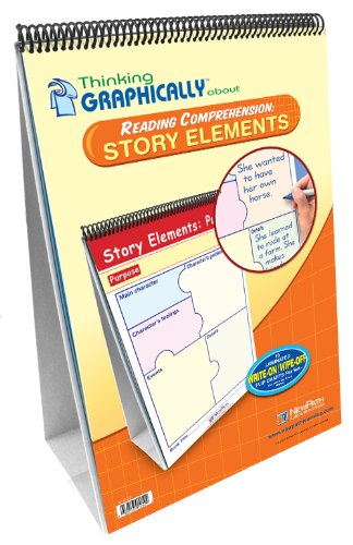 NewPath Learning Thinking Graphically About Reading Comprehension Story Elements Flip Chart Set, Grade 1-7 by NewPath Learning