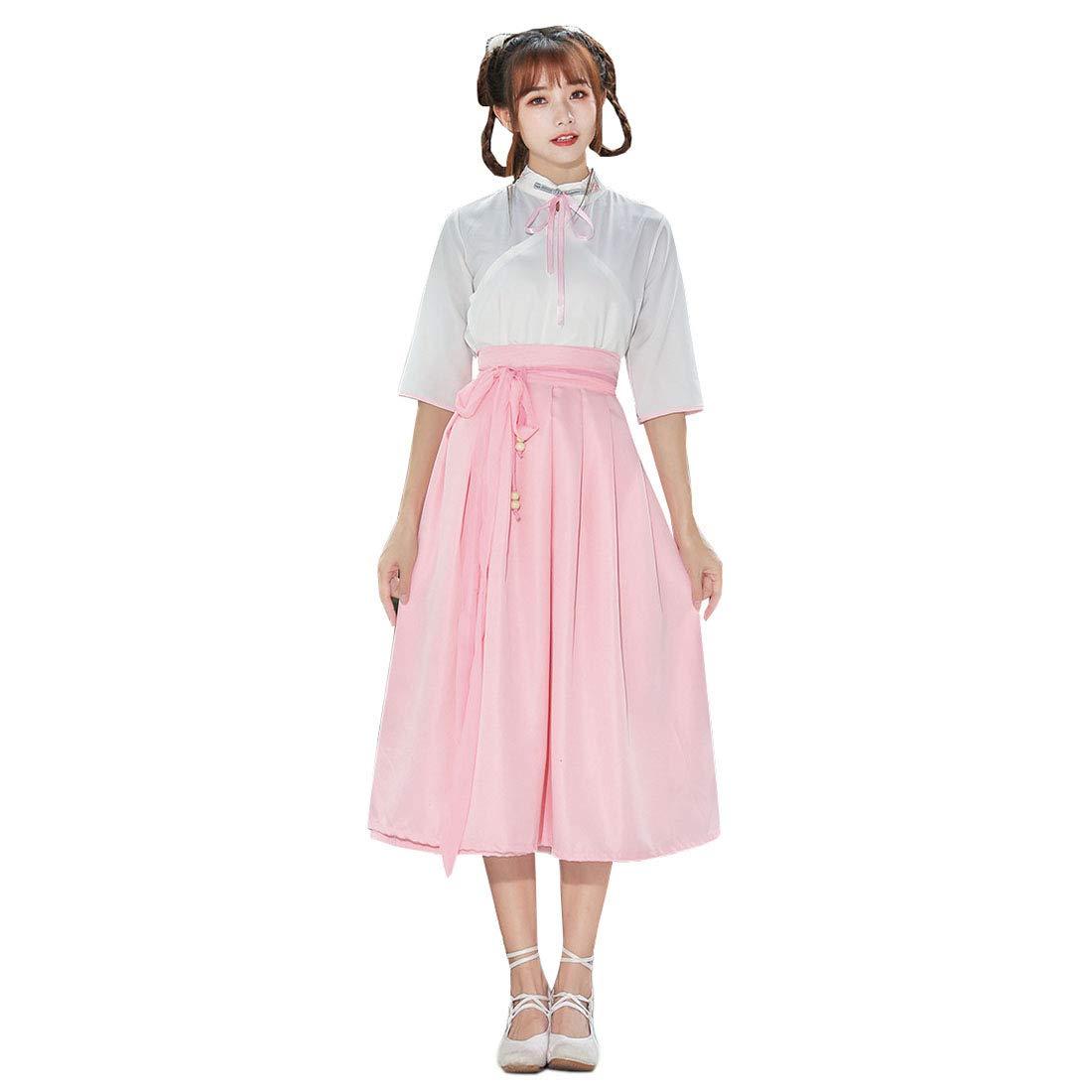 Ez-sofei Womens Ancient Chinese Traditional Costume Hanfu Dress Short Sleeve