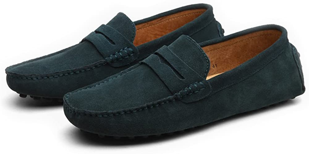 Elegdy Mens Driving Penny Loafers Suede