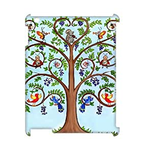 FOCUSCASE Discount Cover Custom Case Of Tree of Life,3D Bumper Plastic customized case For IPad 2,3,4