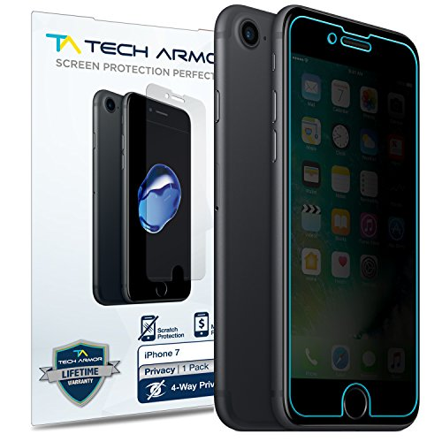 Tech Armor Apple iPhone 7/iPhone 8 (4.7-inch) 4Way 360 Degree Privacy Film Screen Protector [1-Pack] for Apple iPhone 7/8