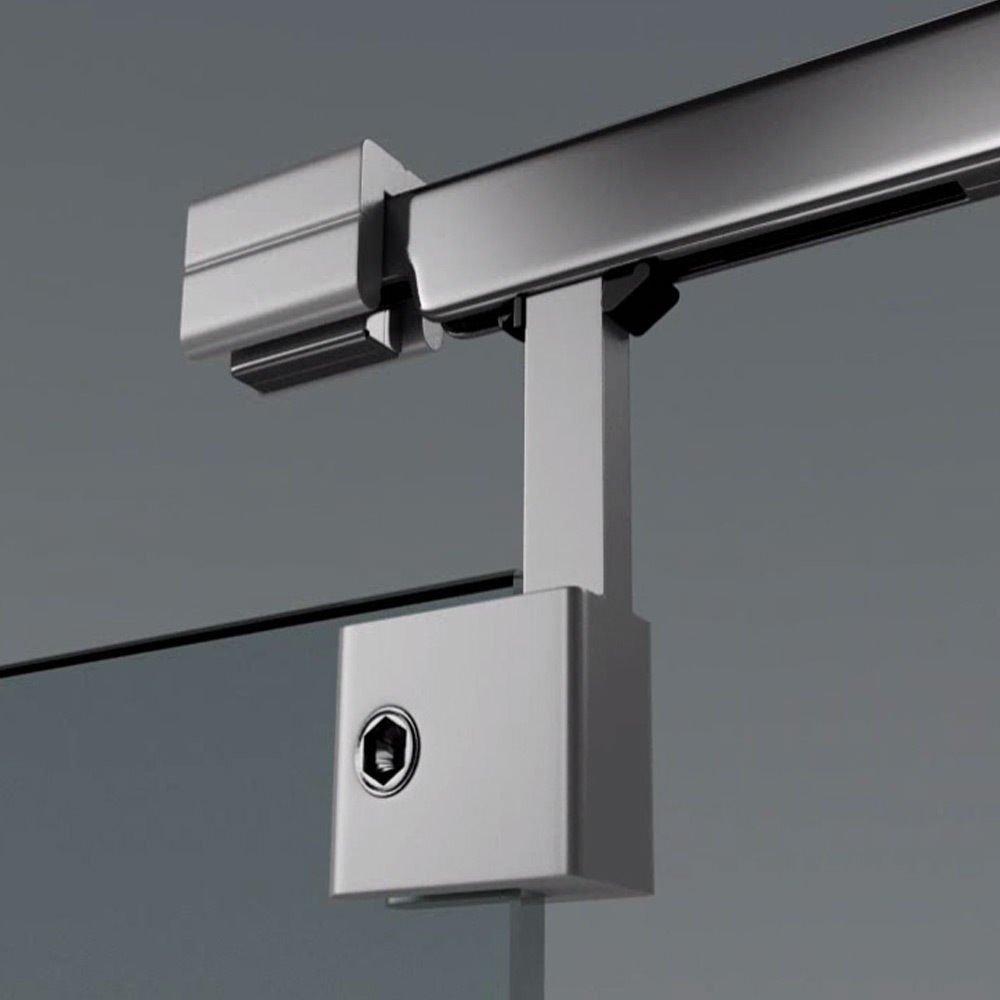 Glast/ür Zimmert/ür Teilsatiniert Schiebet/ür 90x205 cm Design Glasschiebet/ür Amalfi TS11-900 B/ürot/ür ESG Sicherheitsglas