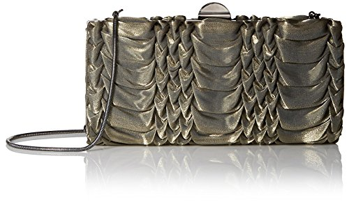 la-regale-womens-metallic-fabric-pleated-frame-minaudiere-gold-clutch