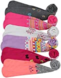 ToBeInStyle Girl's Pack of 6 Assorted Design Winter Tights (Medium, Assorted 2)
