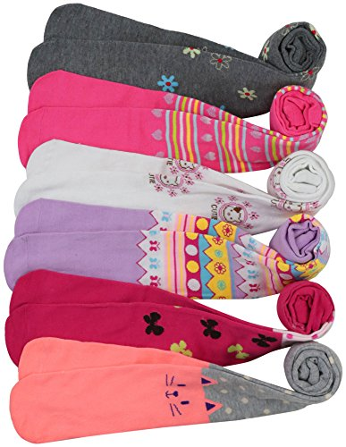 ToBeInStyle Girl's Pack of 6 Assorted Design Winter Tights (Small, Assorted 2)