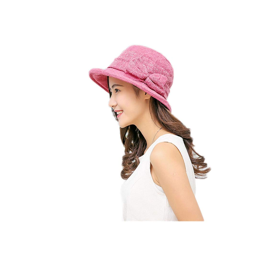 BOWINUS Summer Elegant Hats Women Bowknot Bucket Hat Printed Cotton Fishing Hat Sunhats