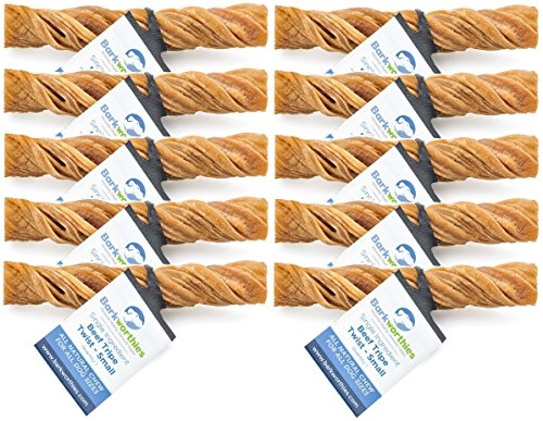 Barkworthies Premium Dog Treats, Tripe Twist (10 Pack)