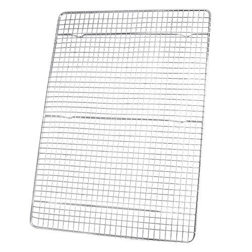 TOP KITCHEN Cooling Rack Baking Rack, Oven Safe, Fits Half Size Sheet Pan, 16-1/2 x 11-1/2