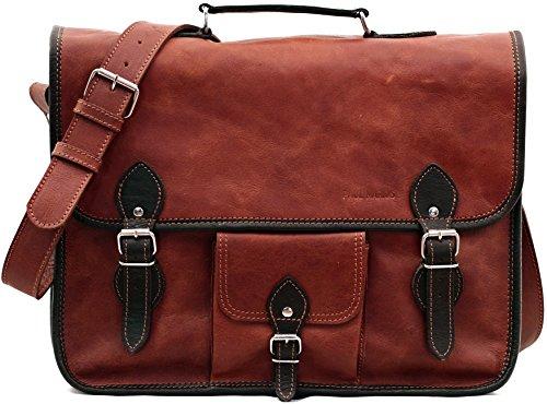 La Borsa a tracolla (L), ORIENT EXPRESS colore naturale borsa pelle vintage, la borsa a mano, borsa a tracolla, (A4), PAUL MARIUS, Vintage & Retro