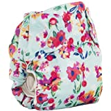Smart Bottoms Smart ONE 3.1 Organic All-in-one Cloth Diaper (Aqua Floral)