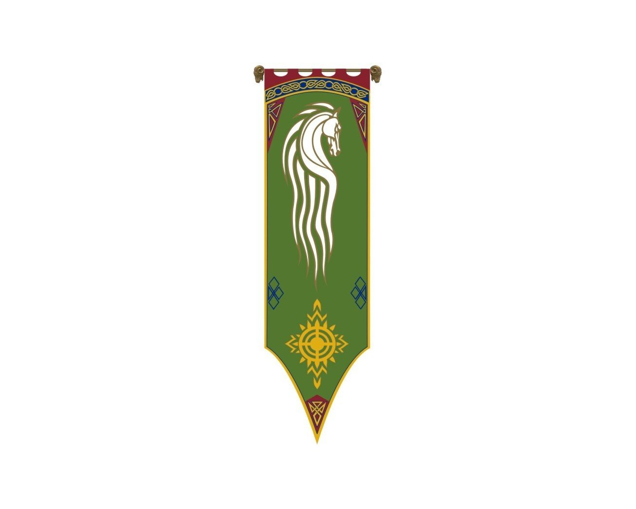 Lord of the Rings Banner Von Rohan - Flag - Big Size 21.2''x80'' by filmwelt-shop
