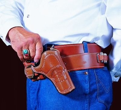 DeSantis DOC Holiday Cross Draw Holster fits 3 1/2-Inch Colt SAA, Right Hand, Tan