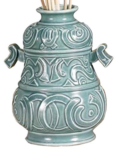 Biedermann & Sons Porcelain Mini Vase, Jade Blue, 4.75-Inch