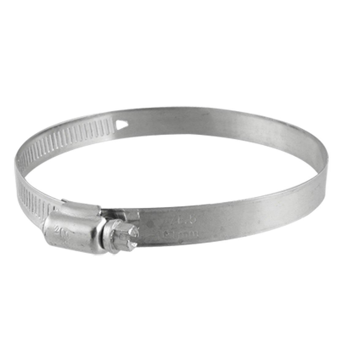 2 piezas banda ajustable de 101 millimeter 78 - de tornillo sin fin para abrazaderas de tubo flexible Sourcingmap a11092400ux0015