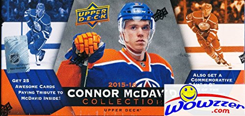 2015/2016 Upper Deck Connor McDavid Collection Factory Sealed Box Set! Includes 25 Rookie Cards & Special JUMBO RC of the NHL's Hottest Rookie! Look for Rare Autograph Jumbo Card worth around $2,000 ! Nhl Rookie Card