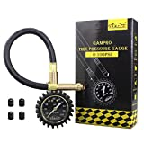 GAMPRO Tire Pressure Gauge 100 PSI, Heavy-duty Tire Gauge with Luminous Scales and Pressure Release Button for Car Truck Motorcycle SUV RV ATV