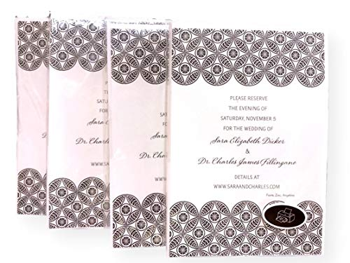 32 Hallmark Black Pattern DIY Save the Date Magnet Announcements -