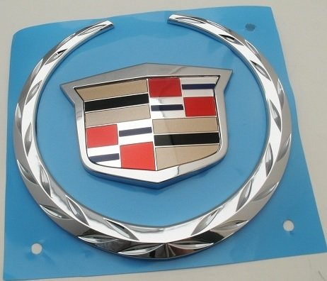 - CADILLAC WREATH CREST LARGE GAS DOOR EMBLEM