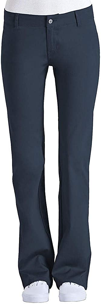 Dickies Juniors Twill Dress Pant Size 3 Navy