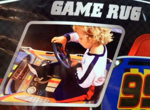 Game Rug, Kids NASCAR With Steering Wheel with 8 (Nascar Rug)