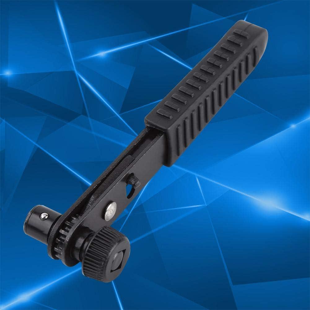 1//4 Black Ratchet Wrench Screwdriver Handle Quick Release Composite Offset Ratchet for Driver Bits Quick Socket Tool