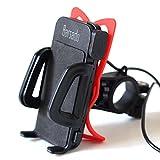 【Barsado】 バイク用 USB 電源 2.4A(5V / 2.4A) 急速充電 ソケット付 防水仕様 スマートフォン ホルダー バー マウント 多機種対応!! ラバーグリップ2枚付属